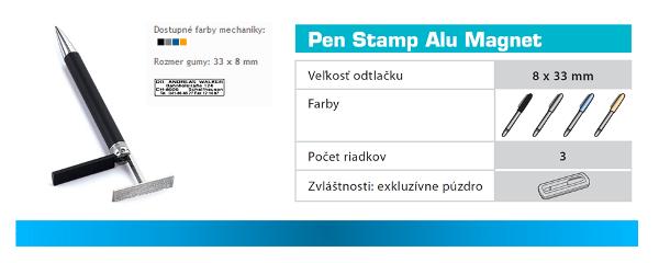pen stamp alu magnet